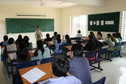 A class in session at the Tibetan college in Bangalore/File photo