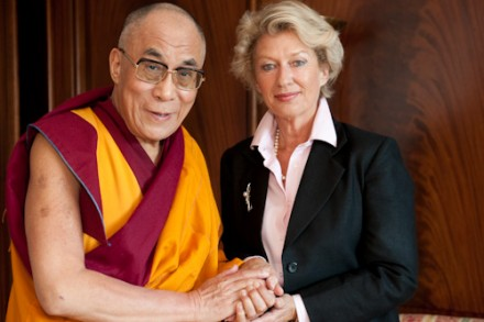 His Holiness the Dalai Lama and the Mayor of Frankfurt, Dr. Petra Roth/Photos:The Tibet Bureau
