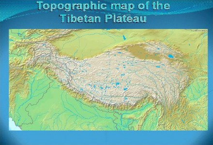 Topographic Map of Tibetan Plateau