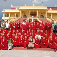 Participants pose for group photo/Photo by Dhondup Tashi/Tibet Times