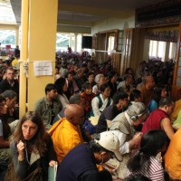 Devotees attending the teaching. Photo/ Sangay Kep, Tibetnet.