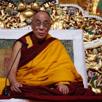 His Holiness the Dalai Lama speaks at the inaugural ceremony of his new biography
