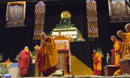 His Holiness the Dalai Lama on Tuesday, gave teaching on Bodhicitta.