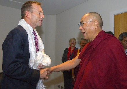 His Holiness the Dalai Lama meets Federal Opposition Leader Tony Abbott