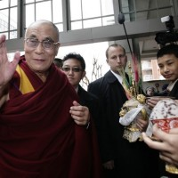 His Holiness the Dalai Lama is greeted by members of the Tibetan community as he arrives at the Park Hyatt Hotel in Washington on 17 February  2010/REUTERS