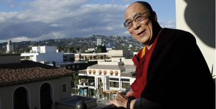 His Holiness the Dalai Lama poses in Beverly Hills, California, on 20 February 2010.