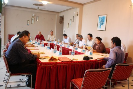 Task Force members attend a two-day meeting in Dharamsala, India, on 8 June 2010/ Photo by Namgyal Tsewang/TibetNet