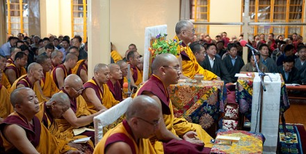 His Holiness the Dalai Lama presided over a special prayer service for flood affected people in Pakistan, Tibet and India,