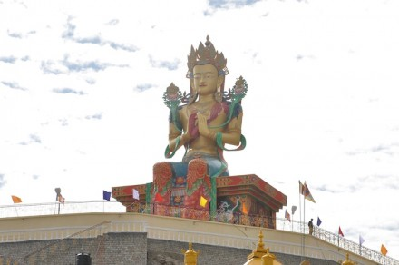 100 feet high statue of Gyalwa Jampa at Disket monastery, which was blessed by His Holiness the Dalai Lama