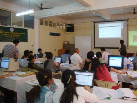 Health department conducts first trainer's training on Tibetan Health Information System in Dharamsala from 6 - 9 September 2010