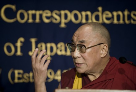 In this file photo His Holiness the Dalai Lama speaks to the media at the Foreign
