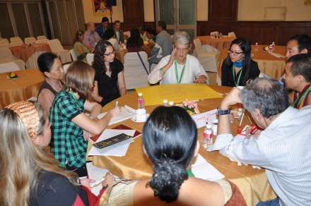Participants deliberate during workshops at the 6th Conference of International Tibet Support Groups at