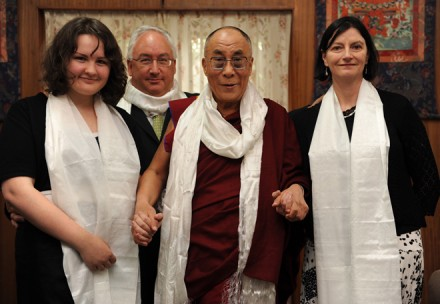 File photo of Mr Michael Danby (standing back), who chaired an Australian parliamentary hearing on the issue of Tibet in the Australian Parliament on 24 November 2010. The file picture with His Holiness the Dalai Lama was taken