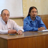 Mr Yuan Hongbing (left) during his visit to the Central Tibetan Administration in Dharamsala, India, in 2009. Also seen in the picture is Mr Sangay Kyap, head of the Chinese Desk at the Department of Information and International Relations