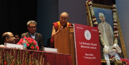 "His Holiness the Dalai Lama delivered the 18th Lal Bahadur Shastri Memorial Lecture, ""The Power of Compassion"","