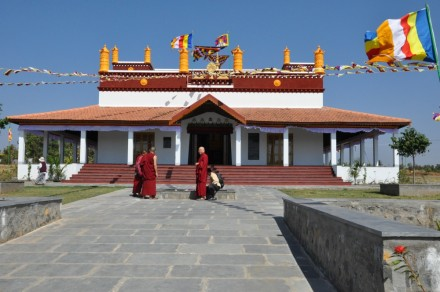 The newly built Rato Monastery in Doeguling Tibetan Settlement in Mundgod in South India's Karnataka state will