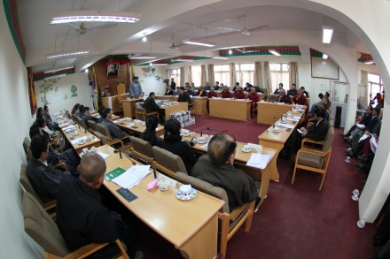 The 11th session of the 14th Tibetan Parliament-in-Exile during the opening day of the budget session on Monday,