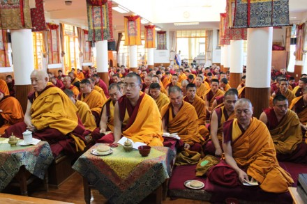 A special prayer service was held this morning at Tsuglagkhang, the main temple in Dharamsala, to mourn those who lost