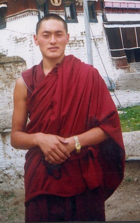 Photo of Lobsang Dhargye, a monk of Kirti Monastery who was detained by the Chinese authorities on 12 April 2011