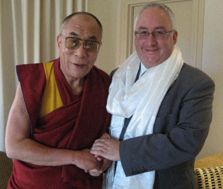 Michael Danby of the All-Party Parliamentary Group for Tibet with His Holiness the Dalai Lama/File photo