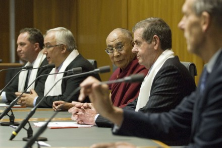 His Holiness the Dalai Lama (c) at the parliamentary reception hosted by All-Party Parliamentary
