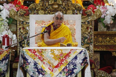 His Holiness the Dalai Lama giving teaching on Tuesday, 28 June 2011 in Dharamsala.  Photos by Nyima /Tibet.net