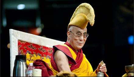 His Holiness the Dalai Lama during ritual prayers for the Kalachakra teachings in Washington, DC,