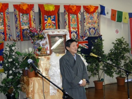 Mr Sonam N Dagpo, His Holiness the Dalai Lama's Representative to Australia, addressing the