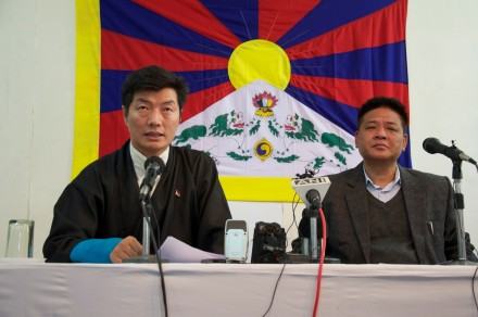 Kalon Tripa Dr Lobsang Sangay (left) and Mr Penpa Tsering, Speaker of the Tibetan Parliament-in-Exile, (right)