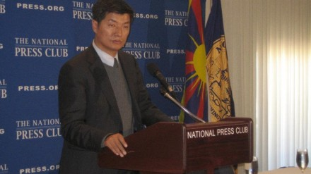 Kalon Tripa Dr Lobsang Sangay speaking at the National Press Club