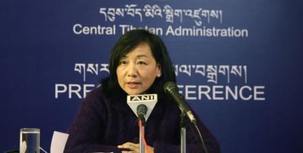 DIIR Kalon Dicki Chhoyang addressing the Press at DIIR Auditorium