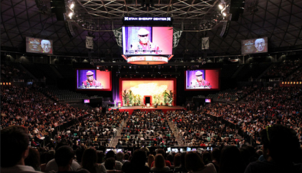 The University of Hawaii's Stan Sheriff Center, venue of His Holiness the Dalai Lama's talk in Honolulu, Hawaii, on 14 April 2012/Photo/Civic Beat