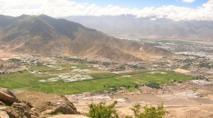 An aerial view of the various prisons and detention centres of Tibet Autonomous region