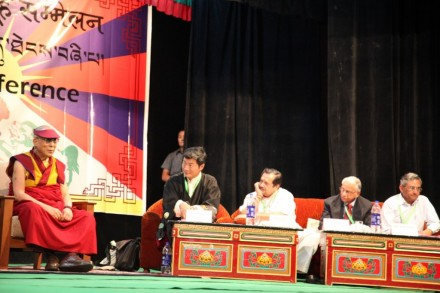 His Holiness the Dalai Lama addressing the opening session of the 4th All India Tibet Support Groups Conference at TIPA in Dharamsala on 9 June 2012