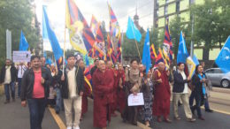 'Tibet Solidarity Rally for Freedom of Religion and Human Rights' observed in front of UN building ground (Palais des Nations), Geneva 16 September 2016. Photo/ICT