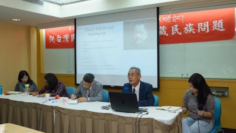 Mr Thubten Samphel, Director of the Tibet Policy Institute, presenting on the 'Outcome of the Tibetan Chinese outreach initiatives' at the international conference on Tibet held on 25 September 2016.