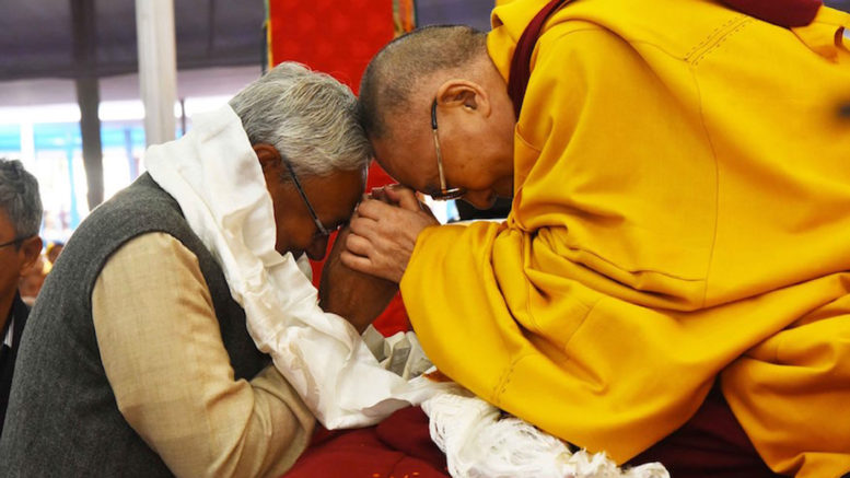 His Holiness the Dalai Lama and Bihar CM Shri Nitish Kumar