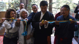 Sikyong Dr Lobsang Sangay inaugurating the new Druzin Gatsel Apartments for the former Tibetan political prisoners at Mecleod Ganj, Dharamshala, 22 February 2017