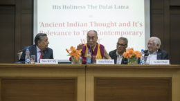 His Holiness the Dalai Lama wrapped up his six-day visit in New Delhi with a public talk at Vivekananda International Foundation, New Delhi on 8 February 2017.