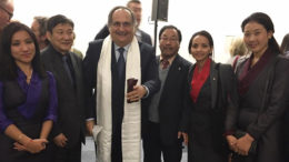 Tibetan delegation with UN Human Rights Council President Maza Martelli, Permanent Representative of El Salvador to the United Nations Office at Geneva